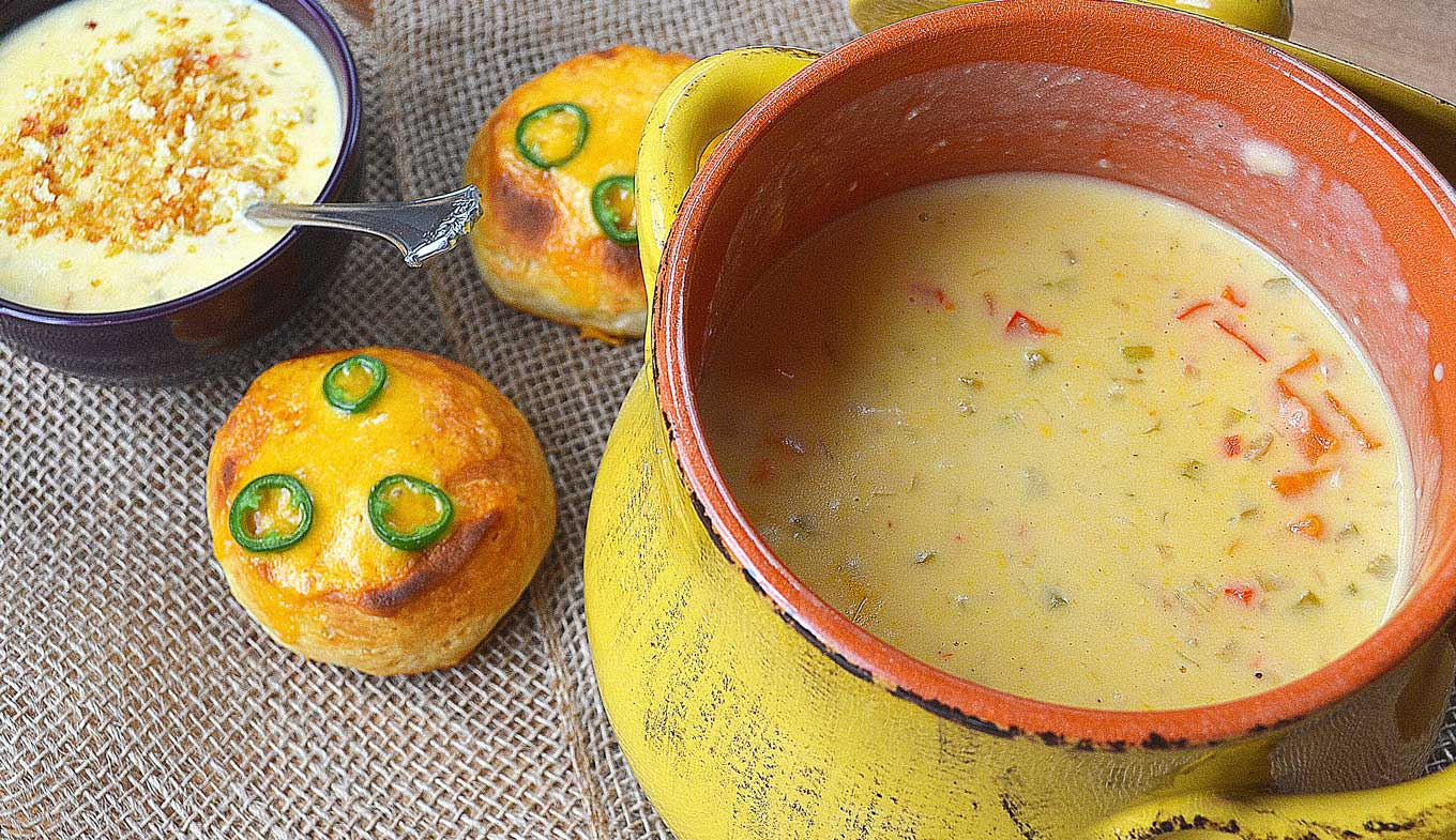 cheddar cheese soup   rusticplate.com