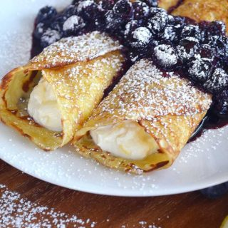 sweet ricotta filled crêpes | rusticplate.com