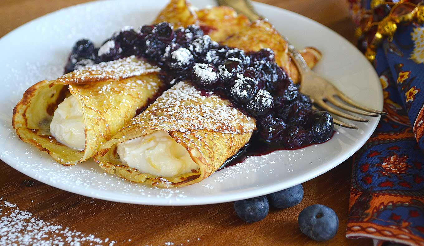 crêpes with sweetened ricotta filling | rusticplate.com