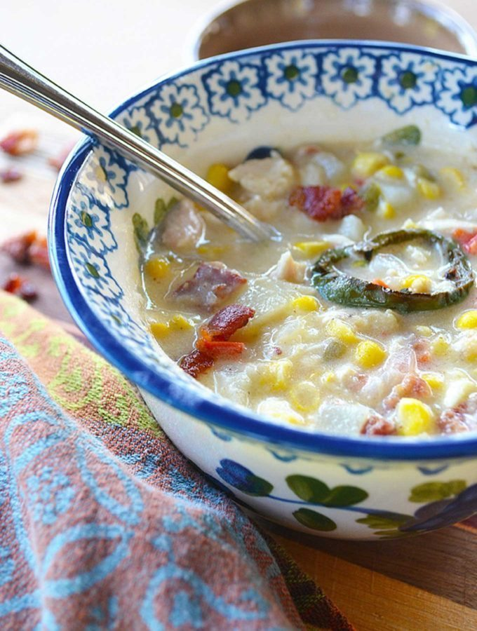 creamy rotisserie chicken & corn chowder