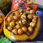 spiced chickpea stuffed peppers | rusticplate.com