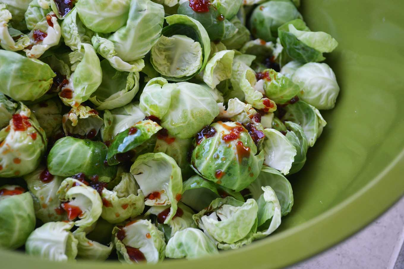 spicy & crispy brussels sprout chips | rusticplate.com