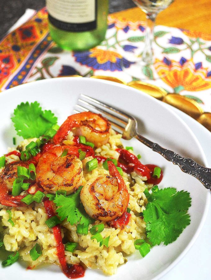 gingery risotto with shrimp & coconut milk