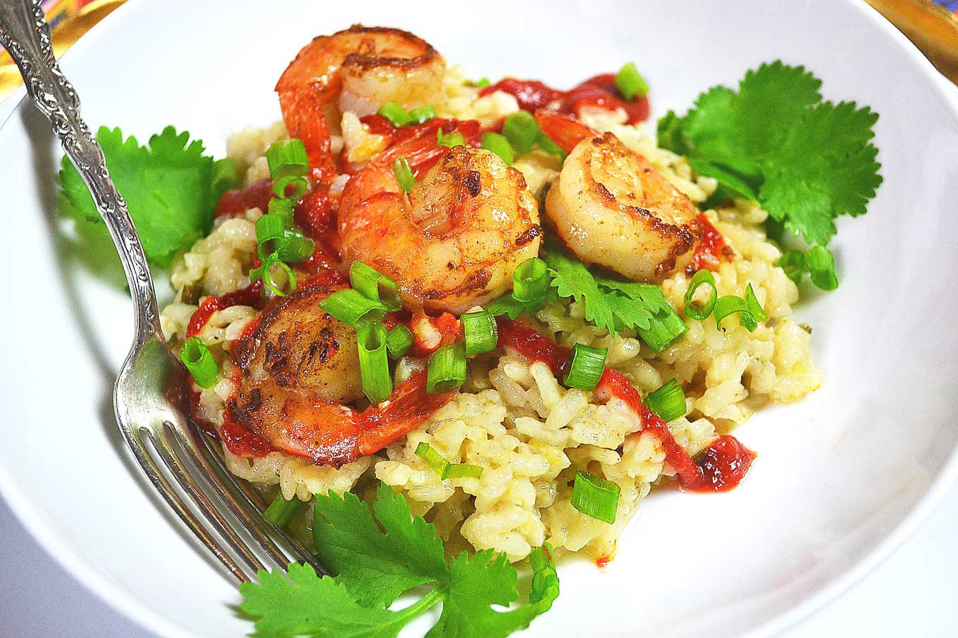 gingery risotto with coconut & lime shrimp | rusticplate.com