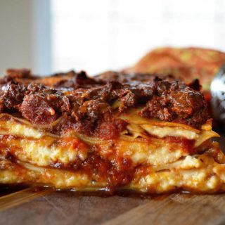 classic lasagna with bolognese sauce & béchamel | rusticplate.com