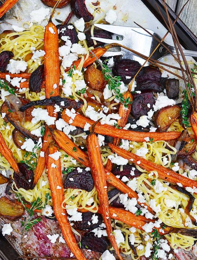 roasted root vegetable pasta | rusticplate.com