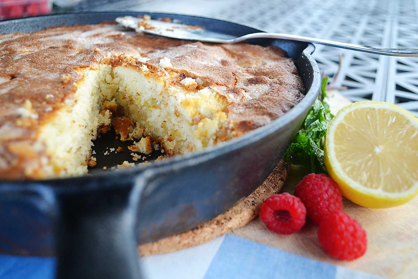 cream cheese apple cake | rusticplate.com