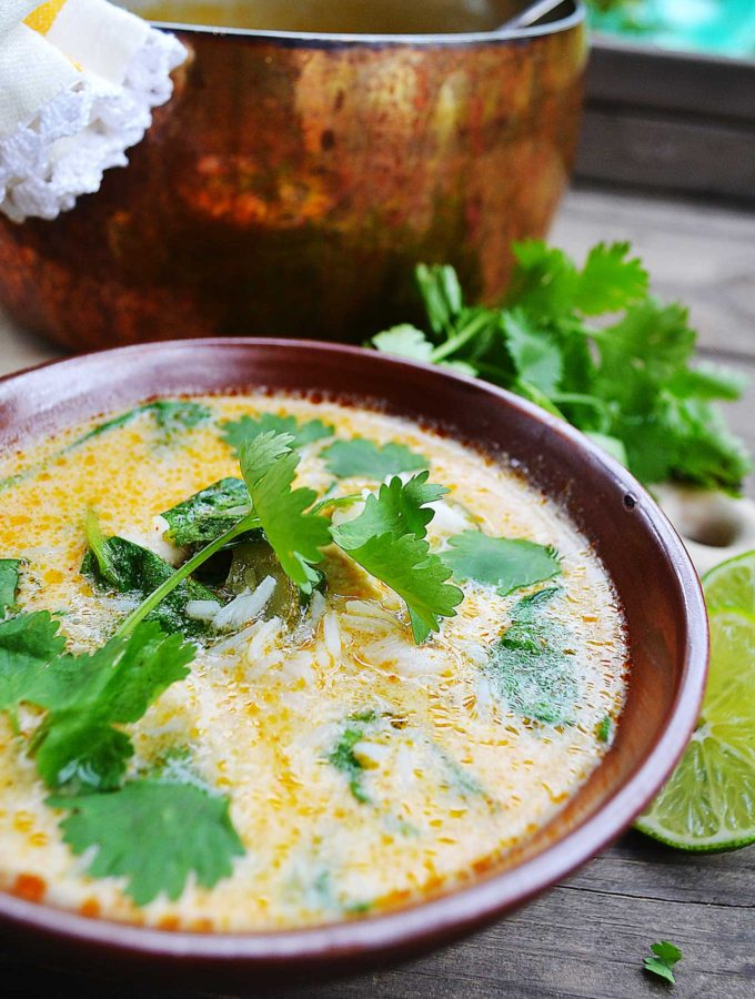 thai chicken & rice soup