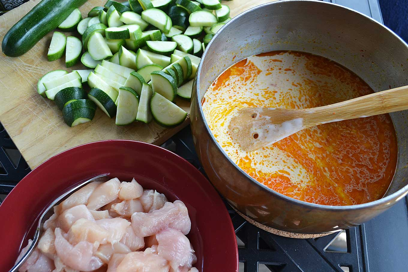 thai chicken & rice soup | rusticplate.com