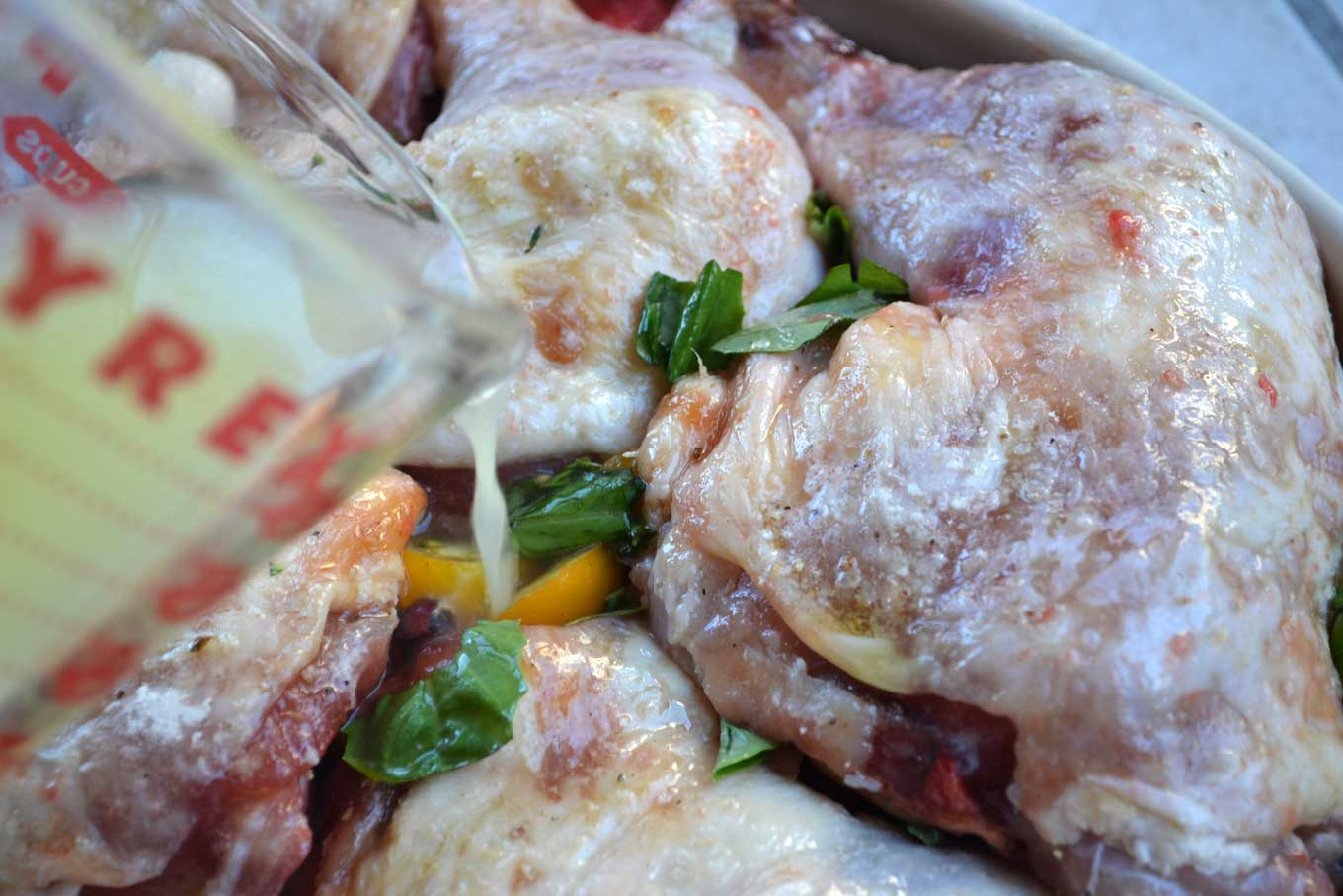 garlic-infused baked chicken legs | rusticplate.com