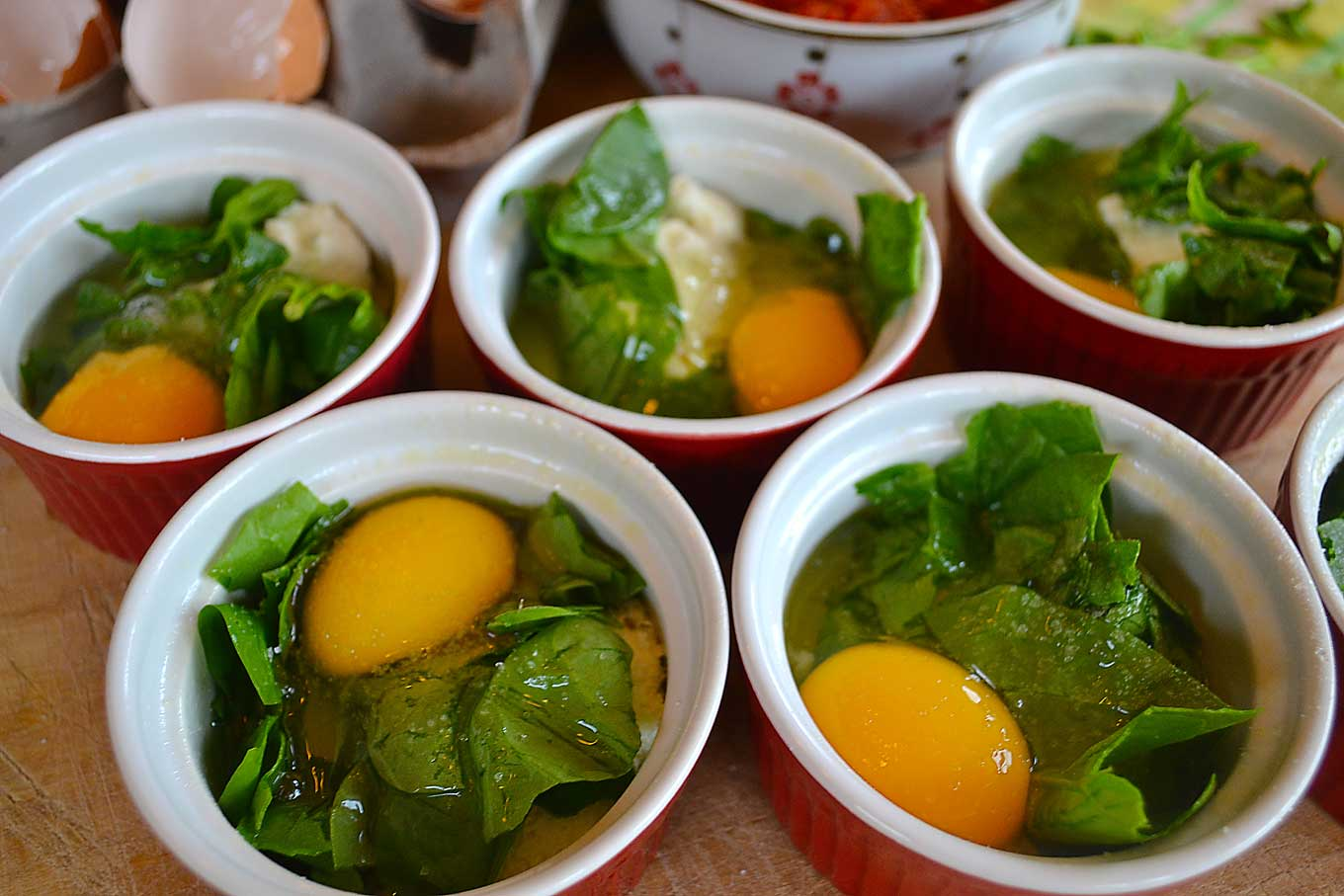 ramekin eggs & spinach | rusticplate.com