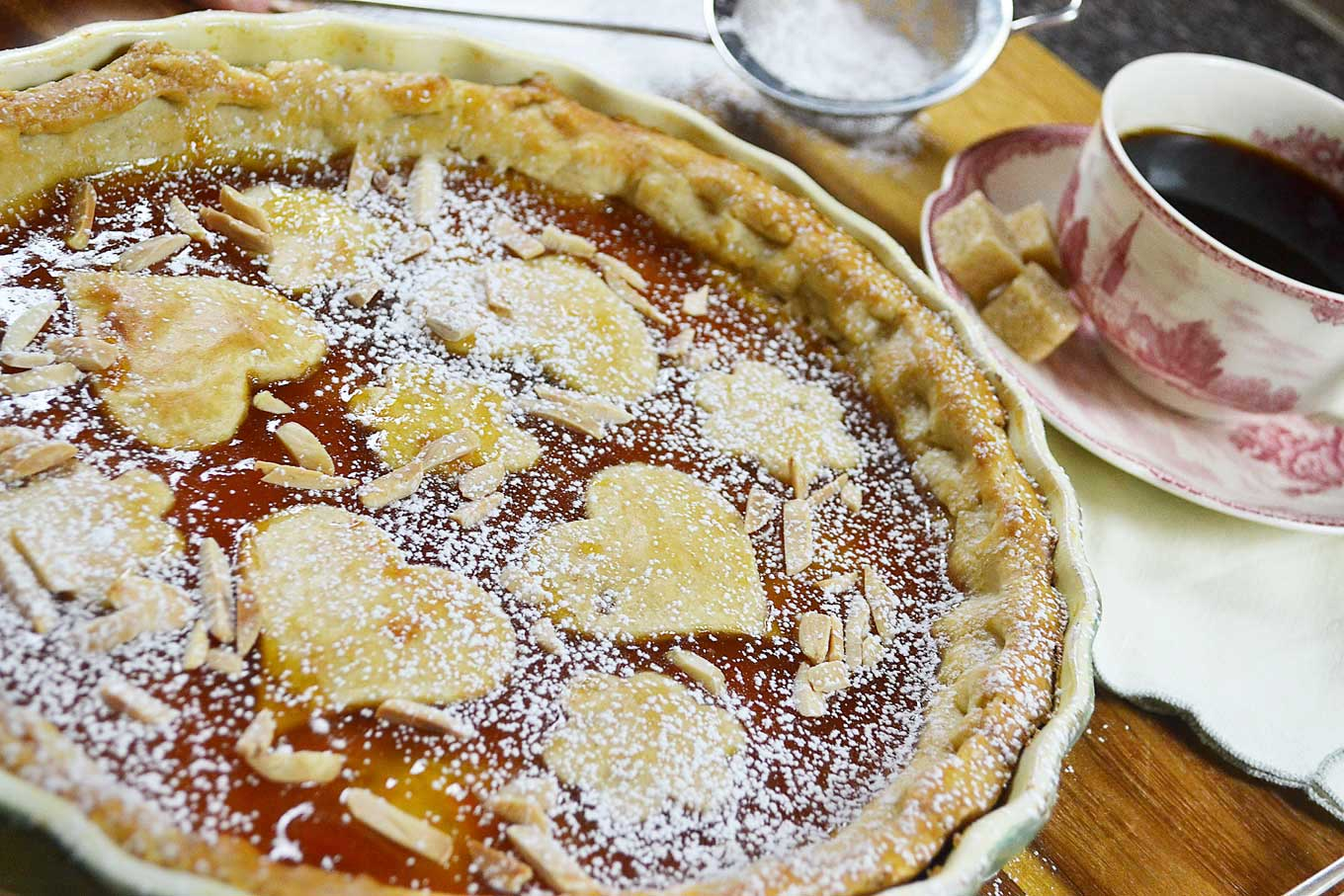 apricot marmalade tart with almond crust | rusticplate.com