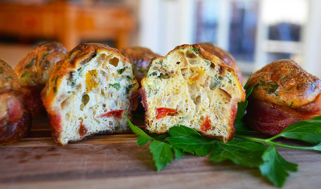 bacon wrapped egg muffins | rusticplate.com