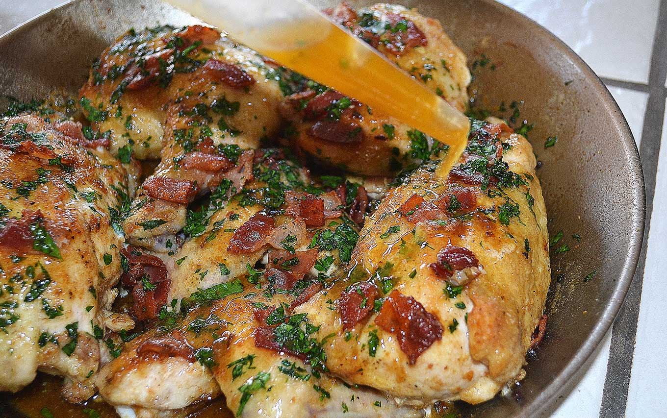 braised chicken with bacon & marsala | rusticplate.com