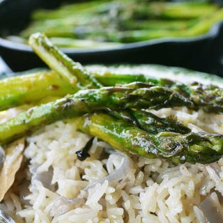 griddled-asparagus-with-curry-butter | rusticplate.com