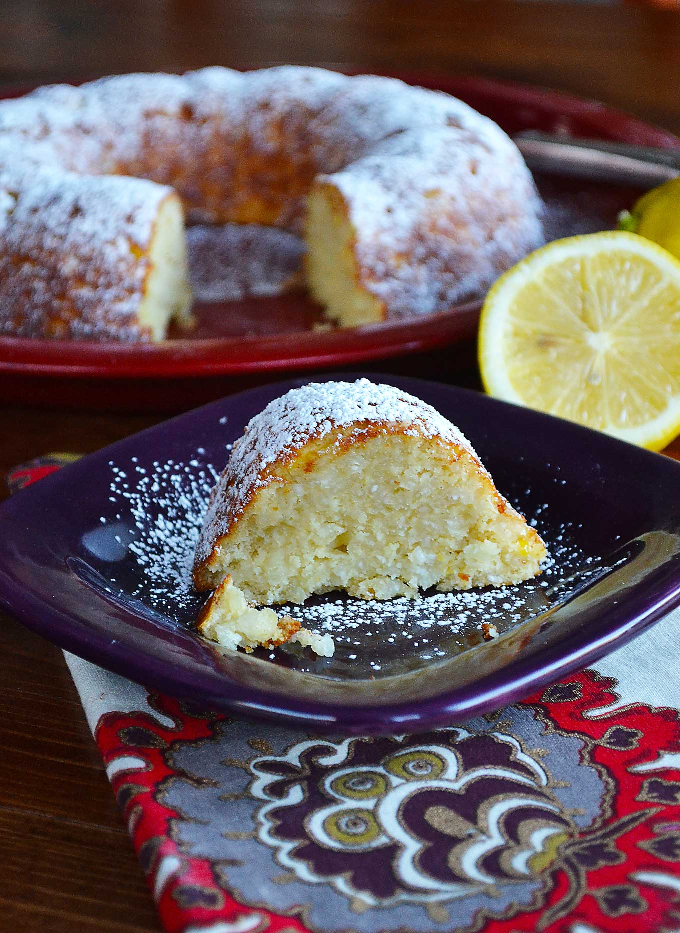 lemon rice bundt cake | rusticplate.com