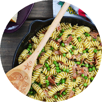 pasta-with-peas | rusticplate.com