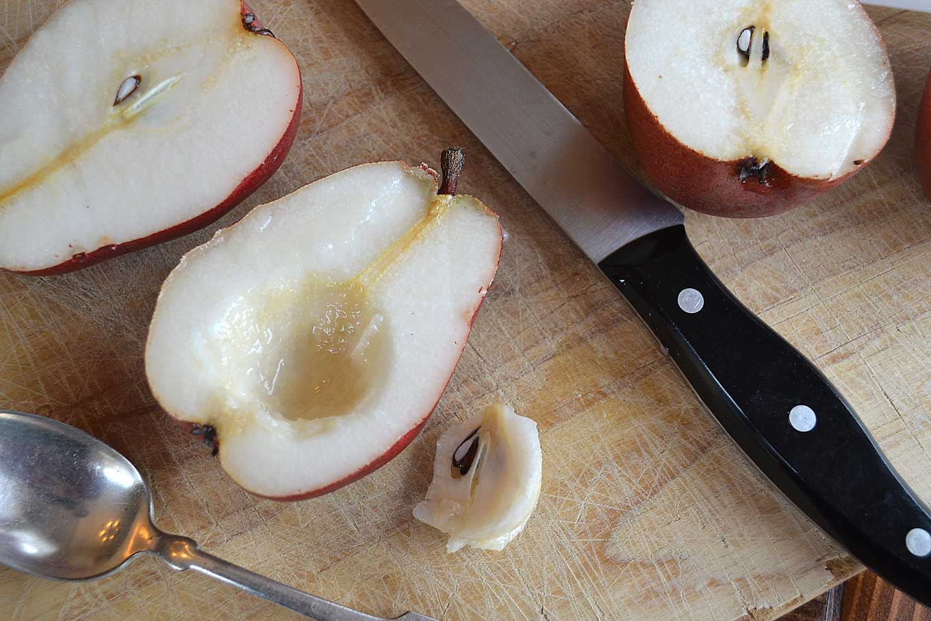 pear hollowed out