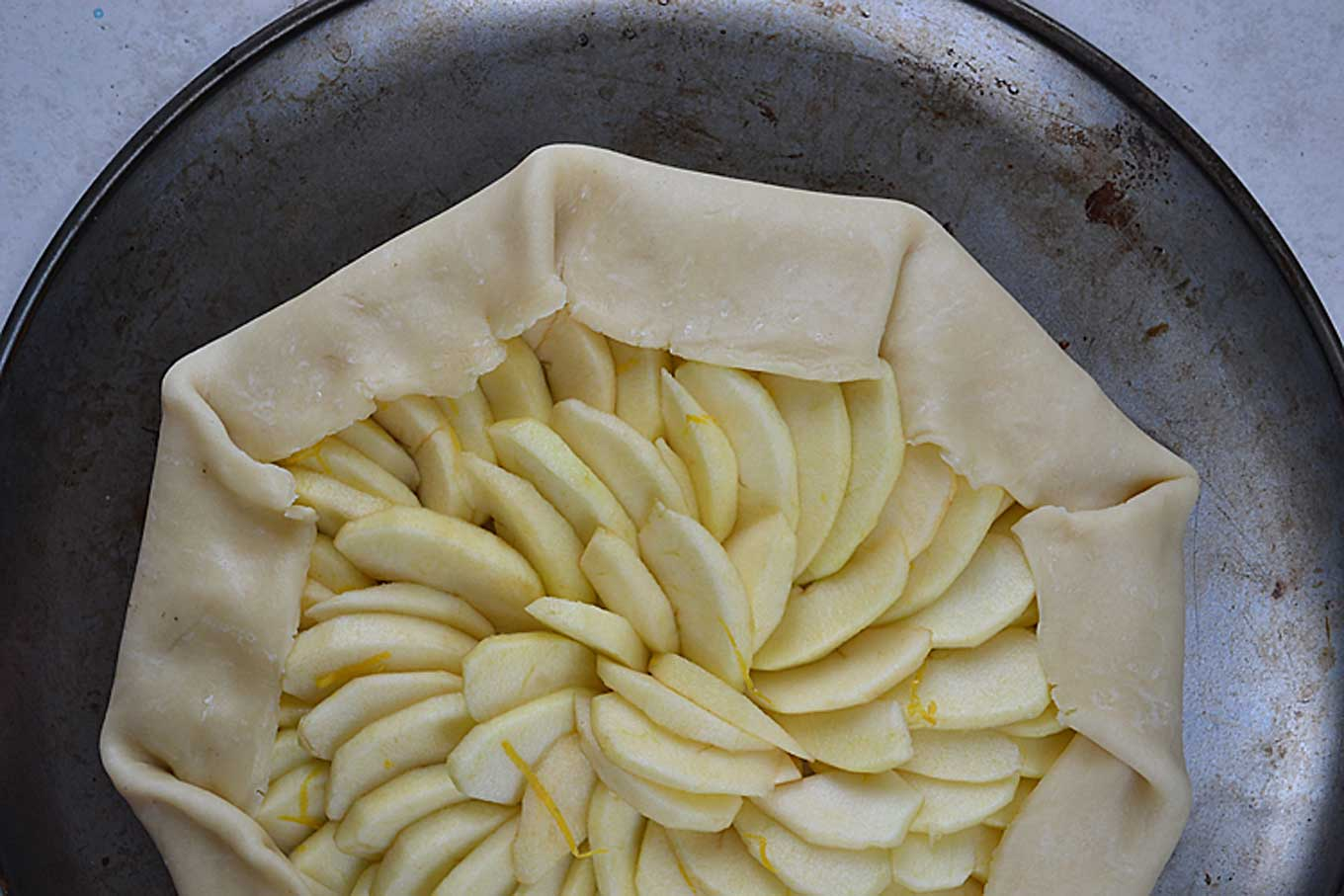 apple galette| rusticplate.com