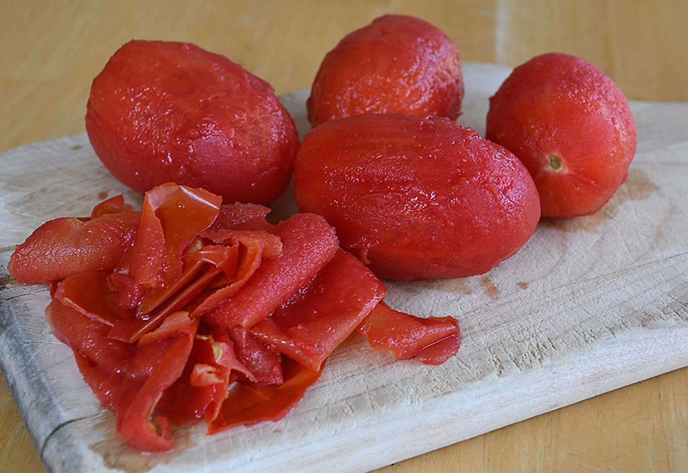remove skin from tomatoes