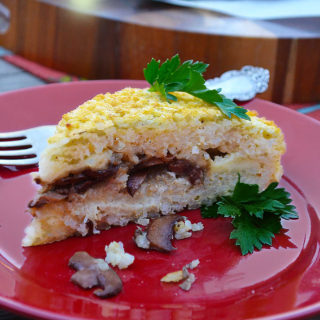 rice torte with fontina & mushrooms | rusticplate.com
